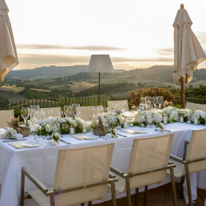 Outdoor Reception at Castello di Casole